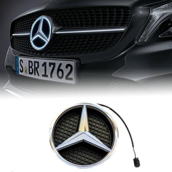 Verlichte-Mercedes-Benz-Ster-Chrome