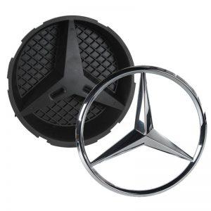 Origineel Mercedes Ster Chroom A0008173200